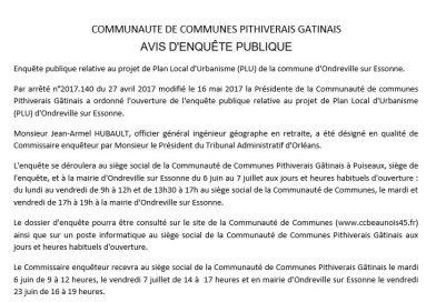 ENQUÊTE PUBLIQUE – RAPPORT ET CONCLUSIONS DU COMMISSAIRE ENQUÊTEUR